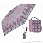 'Ruby' compact umbrella with Bag & Pouch