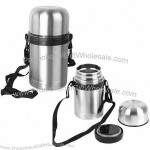 0.8L Stainless Steel Vacuum Food Flask/Storage Container/Jar with Belt