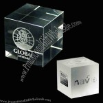 """1 1/2"""" Crystal Cube Paperweight"""