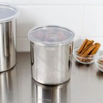 1.2 Qt. Stainless Steel Round Salad Crock with Snap-On Plastic Lid