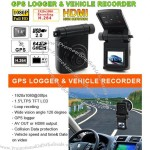 """1.5"""" LCD GPS Logger with Vehicle Recorder"""