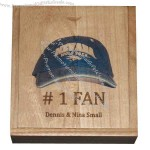 """1.75"""" deep wooden box set with lacquered top and finger joints"""
