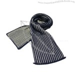 100% Acrylic Multi-color Striped Scarf