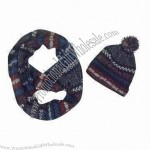 100% Acrylic Scarf and Hat Set