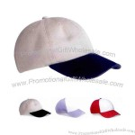 100% bio-washed chino twill cap with pre-curved visor.