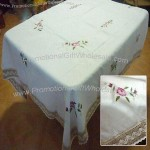 100% Polyester Table Cover with Embroidery
