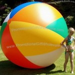 "108"" 12 Panel 6 Color Diagonal Split Beach Ball"