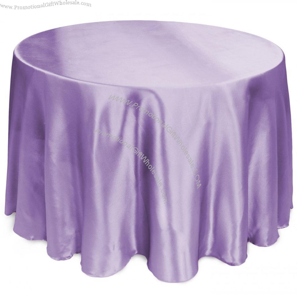 108 Inch Round Satin Tablecloth Lavender China Wholesaler