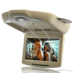 """11"""" Roof-Mounted Car DVD Player - Tan (Flip Down LCD, Remote, 800 x 480)"""