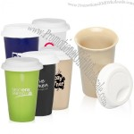 11oz Insulated Porcelain Tumbler with Silicone Lid