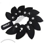 11pcs Golf Iron Club Set Putter Headcover Head Cover Case