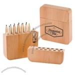 12-Piece Colored Pencil Set with Sharpener