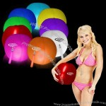 "12"" translucent light up beach ball with glow stick"