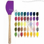 """12.5"""" Silicone Spatula with Wooden Handle"""