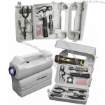 126-Piece Tool Set with LED Flashlight & Carrying Case