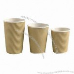 12oz Kraft Insulated Paper Coffee Cup