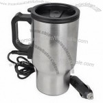 14oz Electronic Travel Cup Warmer (Silver/Black) - Keep Your Drink Deliciously Hot