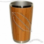 14oz Stainless Steel & Bamboo Cup