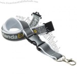 15mm Reflective Polyester Lanyard