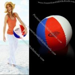16 inch Inflatable Red/ White/ Blue Beach Ball