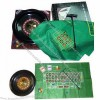 16-inch roulette/black jack game set in box, includes 120 chips and two playing cards