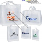 "16""x6""x12"" - Plastic Bags - Frosted Clear Soft Loops"
