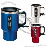 16oz 12v Double Wall Stainless Steel Electric Travel Mug