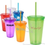 16oz Acrylic Tumbler with Matching Straw