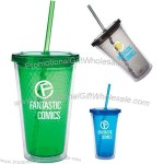 16oz Double Wall Honeycomb Tumbler with Straw