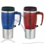 16oz Electric Travel Auto Mug With Stirrer