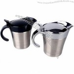 16oz Gravy Boats, Made of Stainless Steel, ABS Handle and Lid with Plating