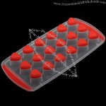 18 cup Heart-Shaped Rubber Ice Tray