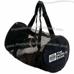 "19"" Mesh Barrel Gym Duffel"