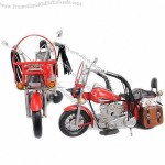 1992 Red HD Motorcycle, 1:8-scale