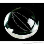 "2"" diameter - Dome magnifier crystal paperweight."