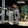 2.2L Large-capacity Fitness Sports Water Bottle