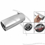 """2.4"""" Inlet 2"""" Hollowed Outlet Straight Cut Exhaust Tip"""