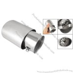 """2.4"""" Inlet Dia Oval Angle Cut Metal Muffler Tail Tip for Car"""