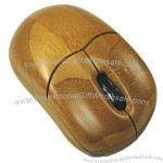 2.4Ghz Wooden Wireless Mouse
