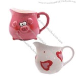 2011 New Fashion Ceramic Pig Mini Cup