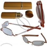 2012 Metal Folding Reading Glasses with Pen Cases