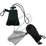2012 New Style Lens Cleaning Cloth with Keychain Pouch