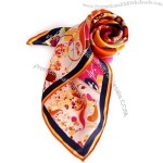 2014 New Lady Stylish Silk Printed Scarf