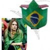 2014 World Cup Brazil Flag Football Fan Cloak