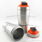 20oz Metal Protein Powder Shaker Cups - Measure Water Bottle