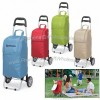 22 Can Rolling Insulated Cart Cooler Bag with Wheeled Trolley
