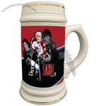 22 Oz. White Beer Stein