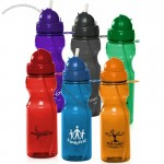 22oz Domed Flip Action Straw Water Bottles