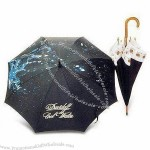 23in Wooden Shaft Automatic Umbrellas