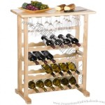 24 Bottle Wine Serving Table